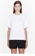 SILENT BY DAMIR DOMA White Heavy Jersey Todia T-shirt for women
