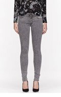 MOTHER Grey The Muse Straight Skinny Jeans for women