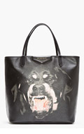 GIVENCHY Black PVC Rottweiler Antigona Tote for women