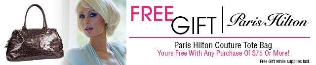 FREE GIFT Paris Hilton Couture Tote Bag