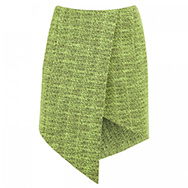 FINDERS KEEPERS - Jump Then Fall asymmetric tweed skirt