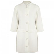 MOSCHINO CHEAP AND CHIC - Pearl embellished wool and cotton blend coat