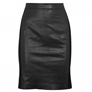 VINCE - Suede and leather pencil skirt
