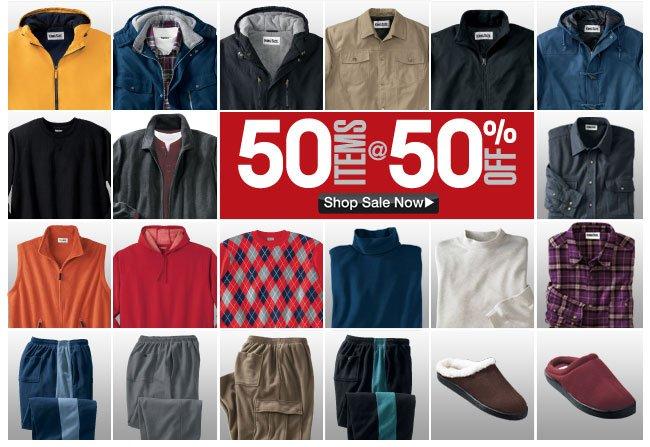 50 items at 50 percent off - click the link below