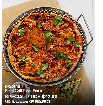 EXCLUSIVE - Steel Grill Pizza Pan - SPECIAL PRICE $23.96 - REG. $29.95, 20% OFF REG. PRICE