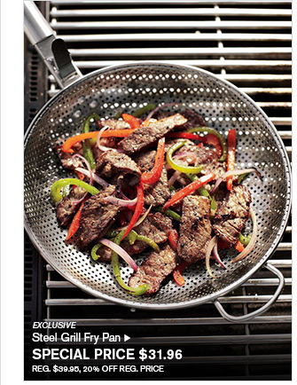 EXCLUSIVE - Steel Grill Fry Pan - SPECIAL PRICE $31.96 - REG. $39.95, 20% OFF REG. PRICE