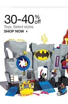 30-40% off Toys. Select styles.SHOP NOW