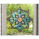 CastleCreek™ Star Stained Glass Window Panel
