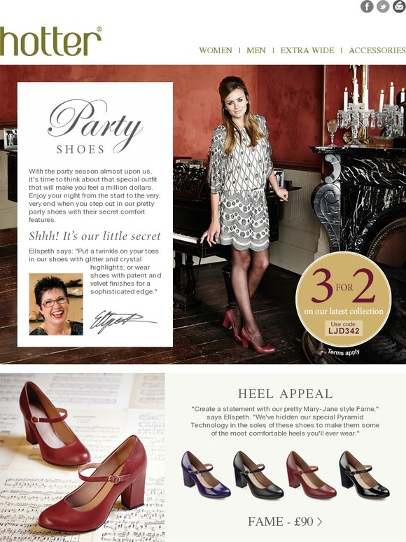 8a1e7caf Hotter Shoes: Shimmer And Shine, It's Party Time!   Milled
