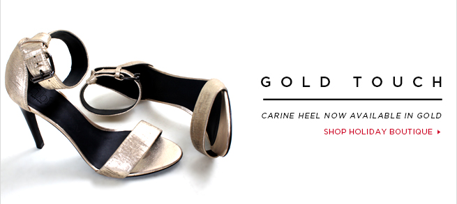Gold Touch: Carine Heel now available in Gold.