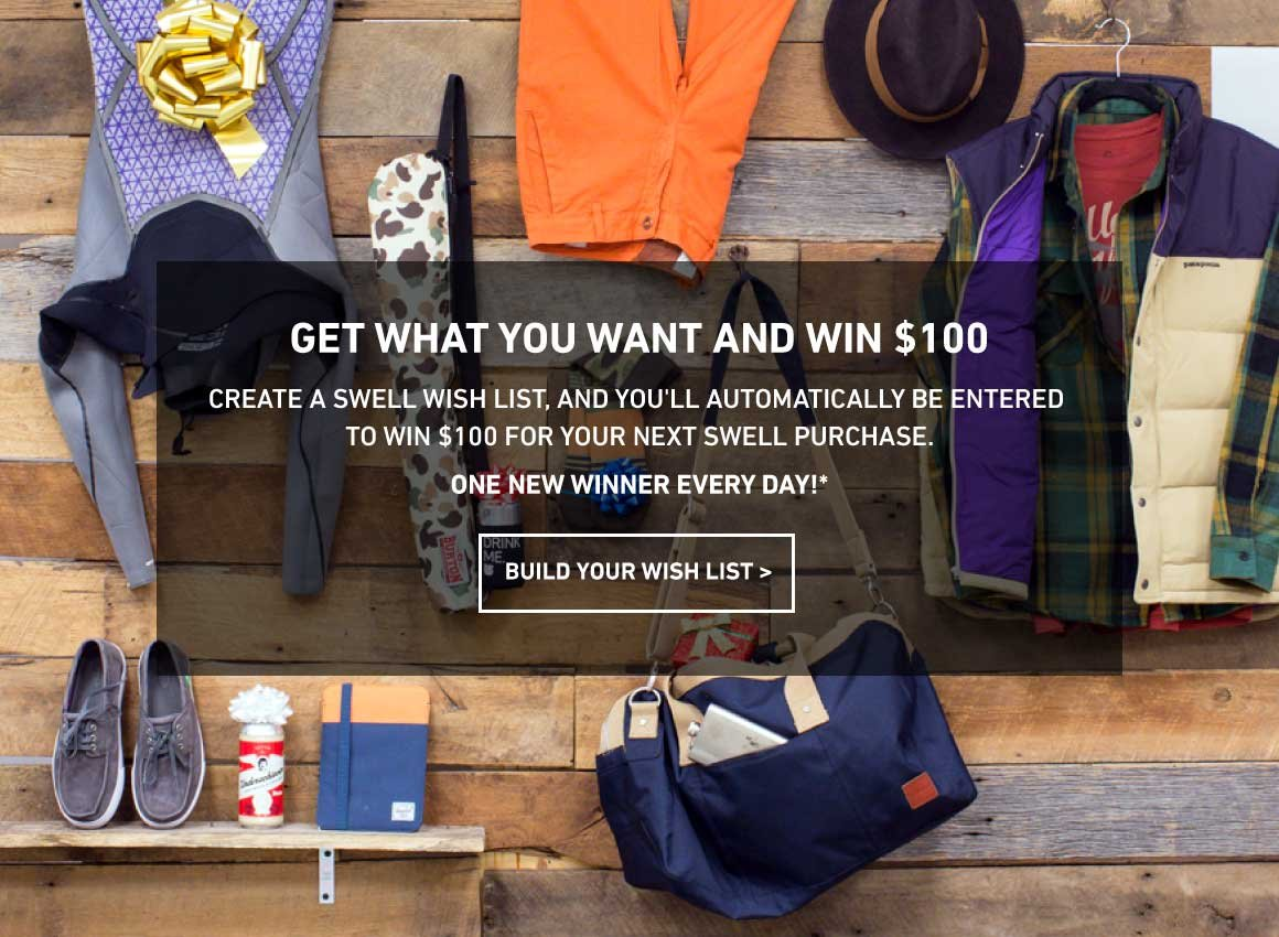 Build A Wishlist, Win $100