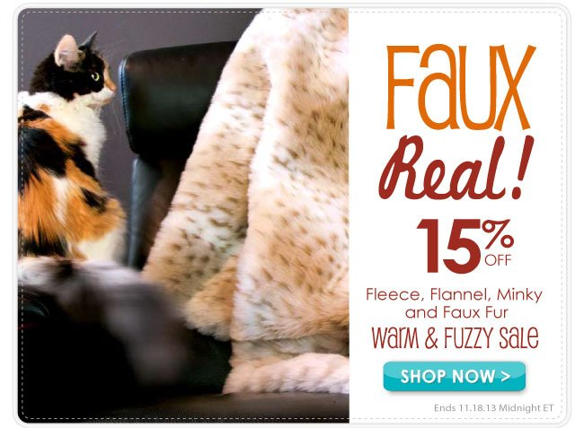 Warm and Fuzzy Sale 15% Off