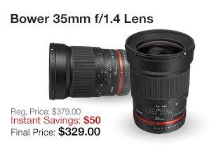 Bower 35mm f1.4