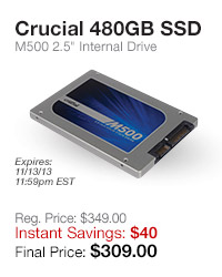 Crucial 480GB SSD