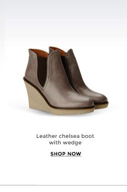 Leather chelsea boot with wedge