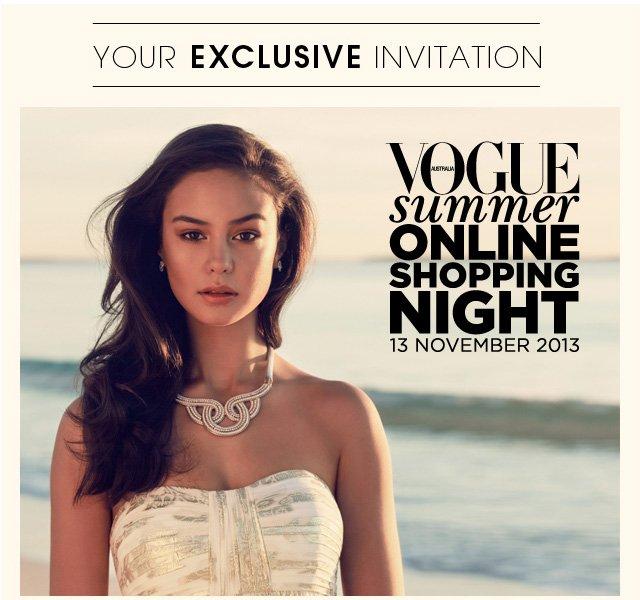 YOUR EXCLUSIVE INVITATION