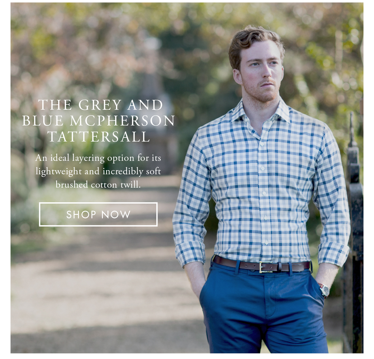 The Grey and Blue McPherson Tattersall