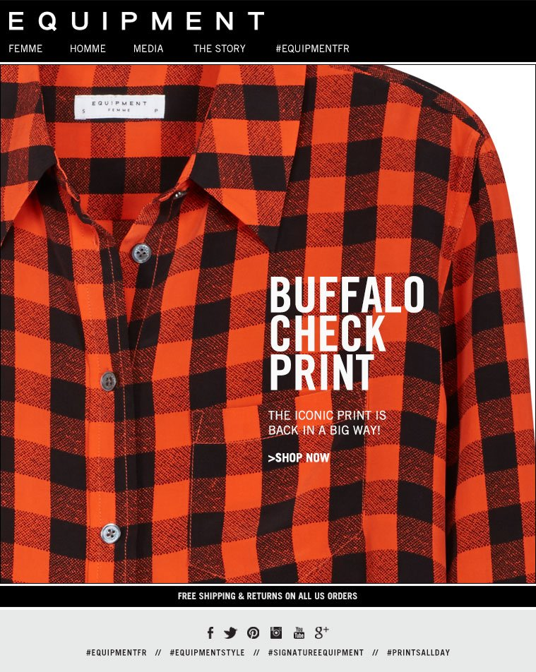 BUFFALO CHECK PRINT THE ICONIC PRINT IS BACK IN A BIG WAY! >SHOP NOW