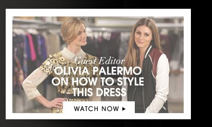 OLIVIA PALERMO ON HOW TO STYLE THIS DRESS. WATCH NOW