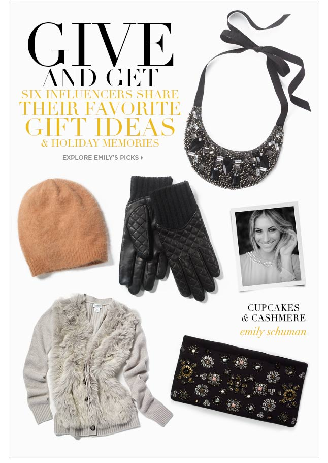 Cupcakes & Cashmere's Emily Schuman Shares Her Holiday Picks