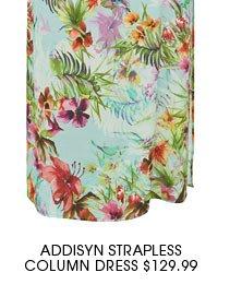 ADDISYN STRAPLESS COLUMN DRESS 3