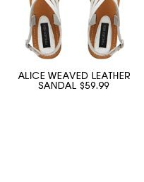 ALICE WEAVED LEATHER SANDAL