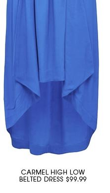 CARMEL HIGH LOW BELTED DRESS 2
