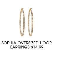 SOPHIA OVERSIZED HOOP EARRINGS