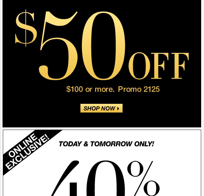 Today only, save $50 in stores!