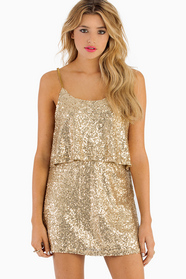 Sequin Tier Dress