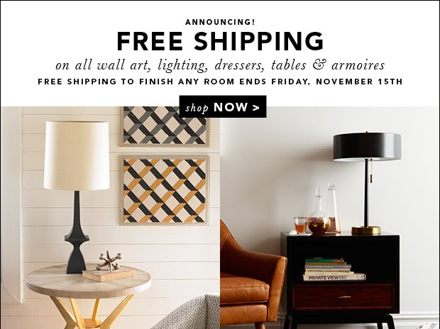 Announcing: FREE Shipping!