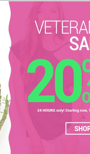 Enjoy 20% OFF entire website with promo code VTDAY20!