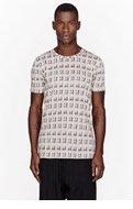 SILENT BY DAMIR DOMA Beige & Black Tenax print t-shirt for men