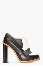 CHLOE Black & cream Lace Up Heels for women