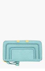 CHLOE Mint green textured calfskin Marcie Wallet for women