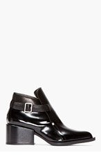 JIL SANDER Black Pointed Toe Runway Boots for women