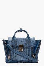 3.1 PHILLIP LIM Blue textured leather Pashli Mini Satchel for women