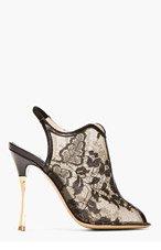 NICHOLAS KIRKWOOD Black Lace peep-toe Heel for women