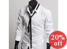 Set: Dress Shirt + Skinny Tie