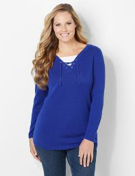 Laced Long-Sleeve Top