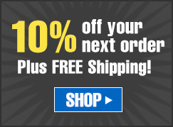 10% off your Next order, Plus FREE Shipping