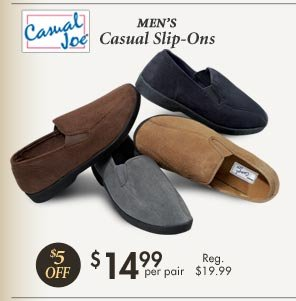 Casual Slip-On's $14.99 per pair