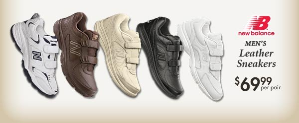 Leather Sneakers $69.99 per pair