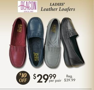 Leather Loafers $29.99 per pair