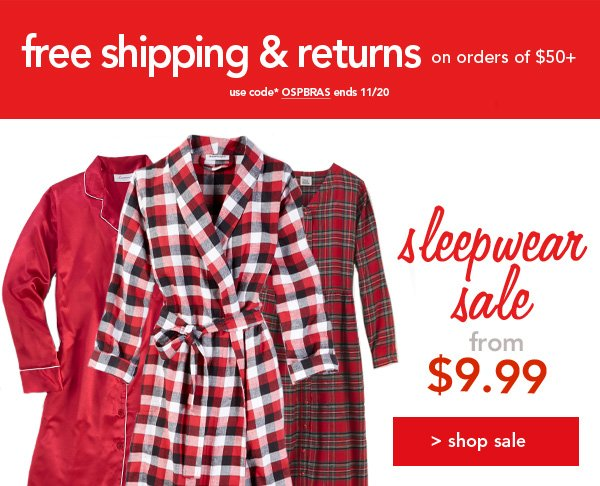 Shop all sleepwear and robes