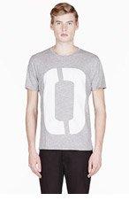 RAG & BONE Heather grey ALPHABET POCKET t-shirt for men
