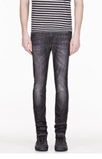 NUDIE JEANS Black organic faded High Kai jeans for men