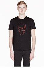 ALEXANDER MCQUEEN Black VEIN SKULL print T-SHIRT for men