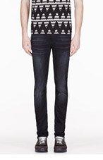NUDIE JEANS Black & blue Organic Tube Tom jeans for men