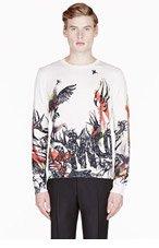 MCQ ALEXANDER MCQUEEN Crew & Red Wild logo print sweater for men